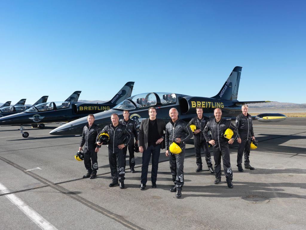 John Travolta Breitling Jet Team