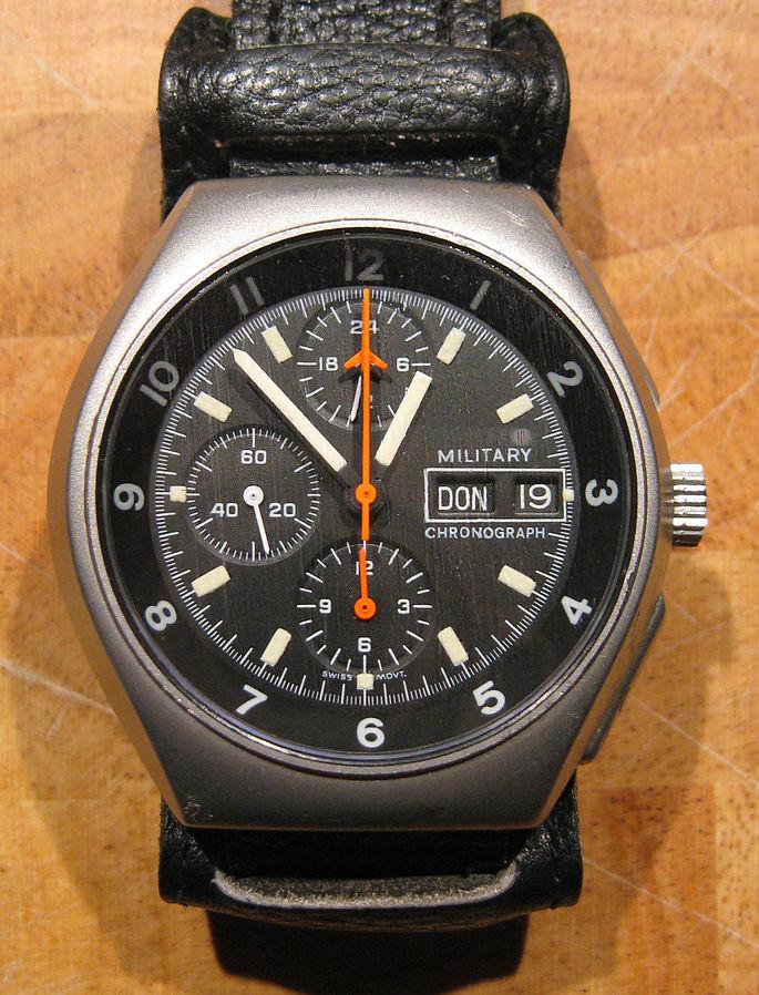 Tutima Flieger chronograph Bundeswehr 1984