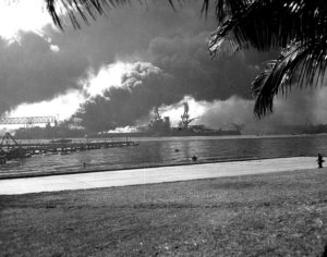 USS Nevada sinkt