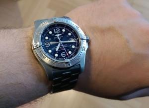 Uhrengröße - Breitling Colt vs. Breitling Steelfish 1a
