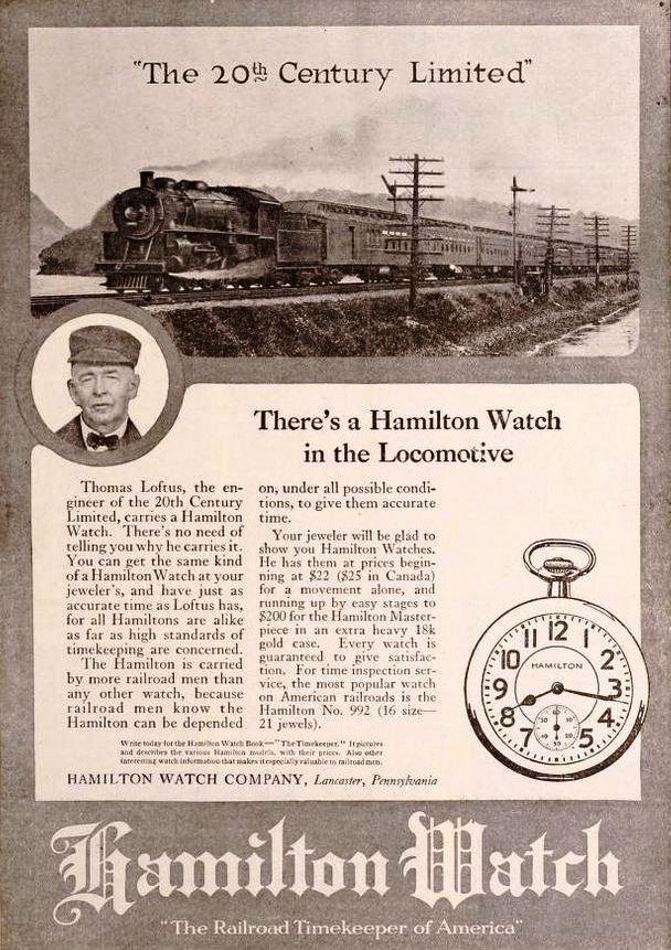 Hamilton Vintage Werbeanzeige