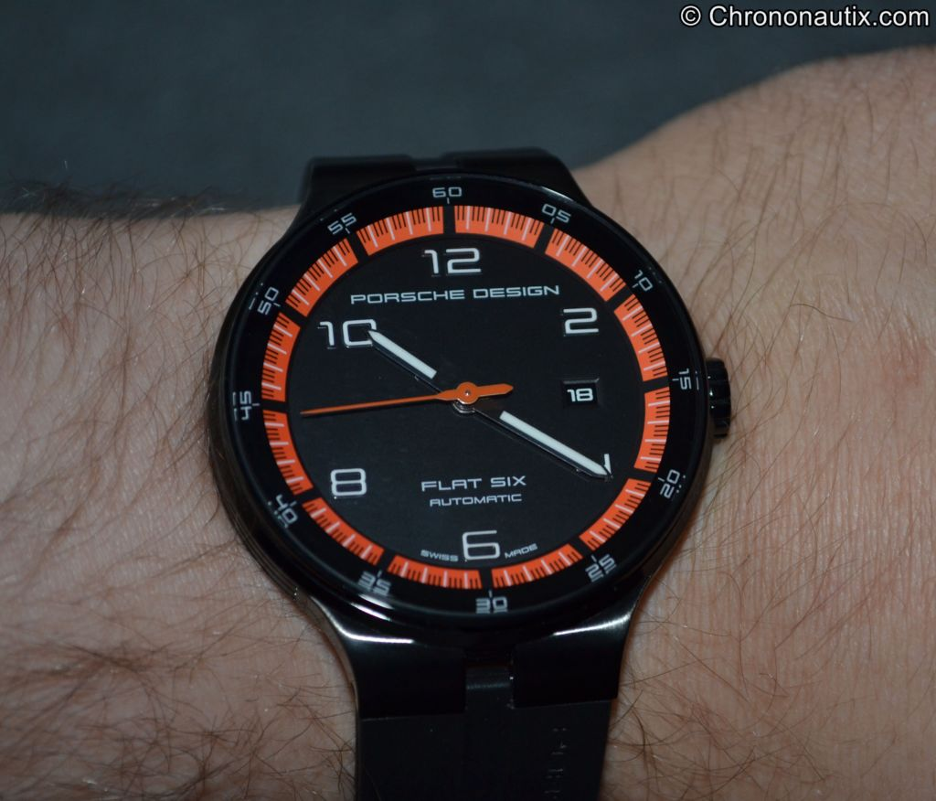 Porsche Design Flat Six P'6350 PVD Orange Schwarz