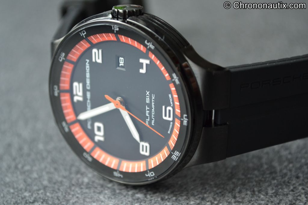 Porsche Design Flat Six P'6350 PVD Orange Schwarz