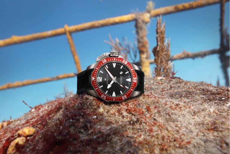H77805335 Hamilton Khaki Navy Frogman 46mm rot