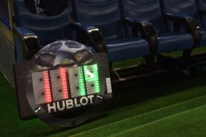 Hublot Anzeigetafel Champions League