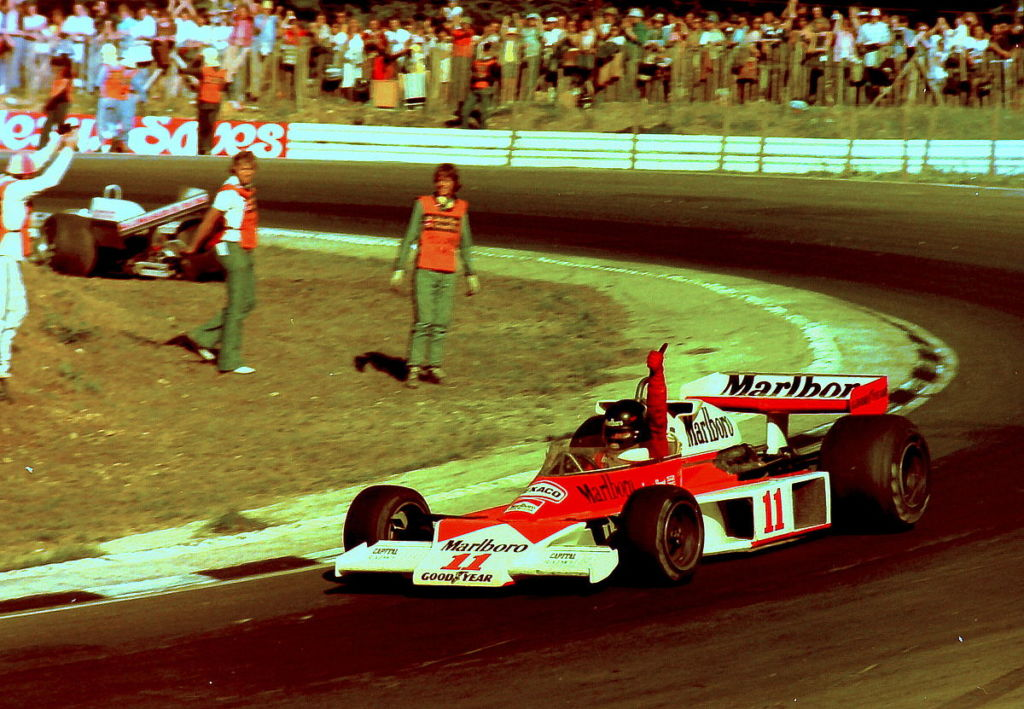 James Hunt 1976 beim British Grand Prix