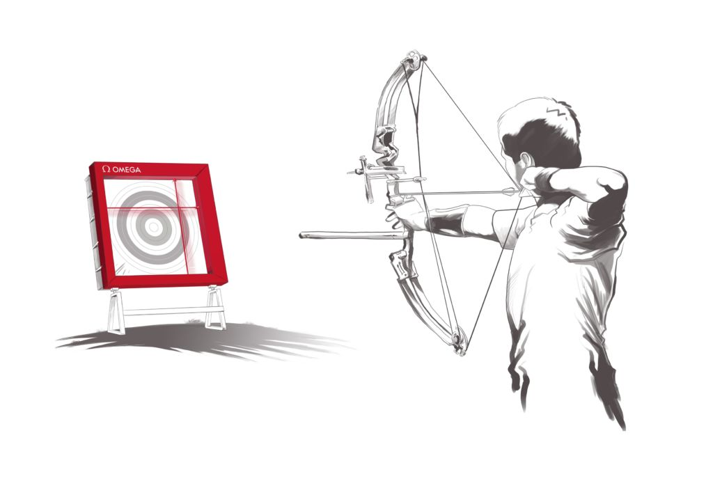Omega Olympic Games Archery targetting system