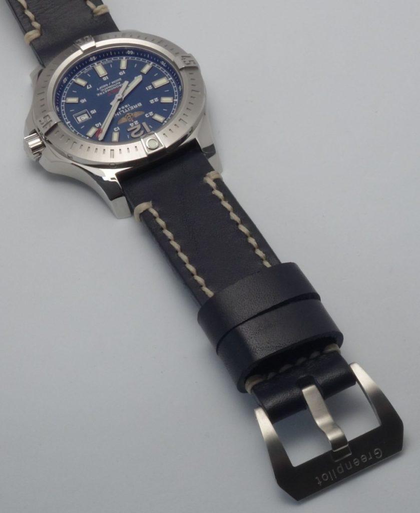 Breitling Colt A17388 marineblau Lederarmband