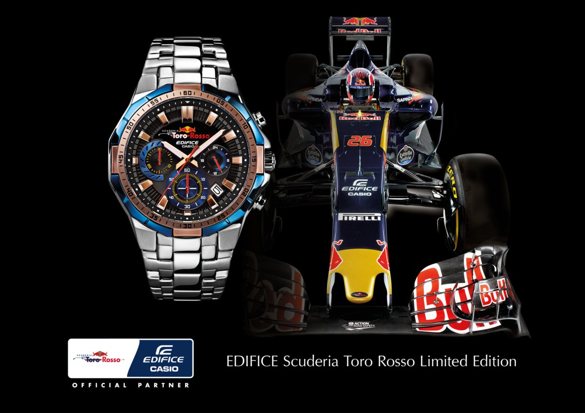 casio toro rosso efr 554tr sportlicher formel 1 chronograph chrononautix. Black Bedroom Furniture Sets. Home Design Ideas