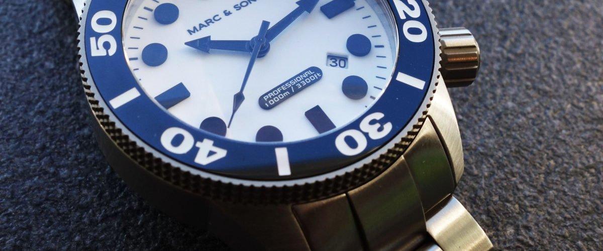 Marc & Sons MSD-027 Leuchtkeks Taucheruhr Diver