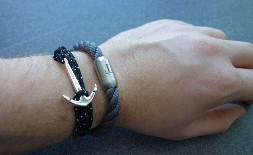 Fischers Fritze Segeltau-Armband Makrele 2.0 grau silber