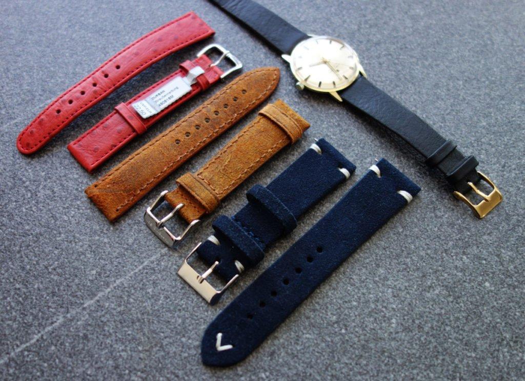 WatchBandit Wildleder Uhren-Armband Sueded Leather Vintage Blau