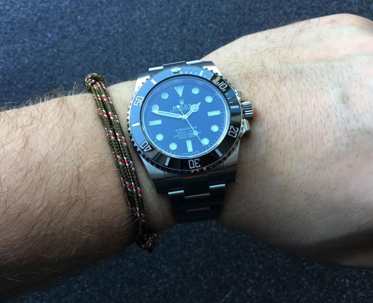 WatchBandit Celtic Nautical Rope Bracelet Knoten-Armband grün Rolex ...