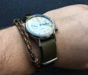 WatchBandit Celtic Nautical Rope Bracelet Knoten-Armband grün
