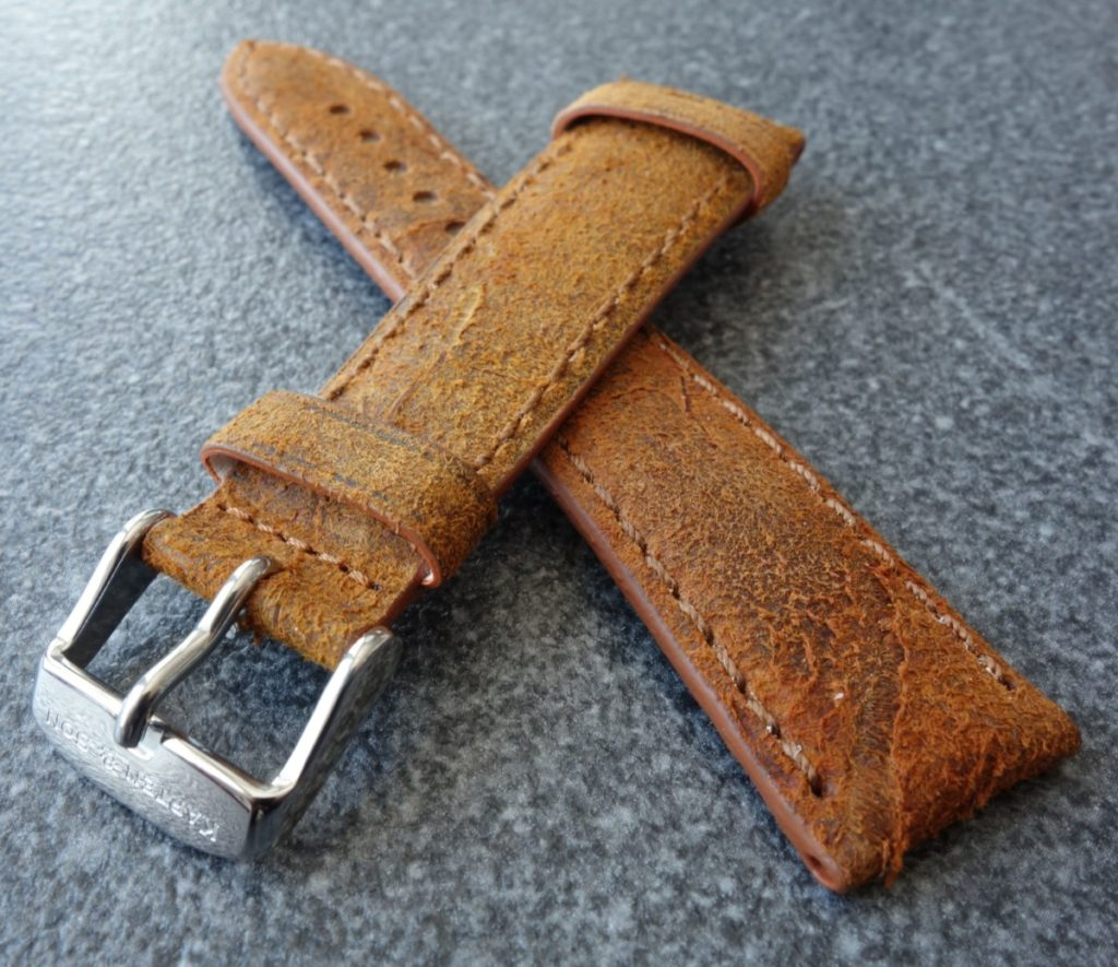 Kapten & Son Vintage Brown Leather Strap Armband