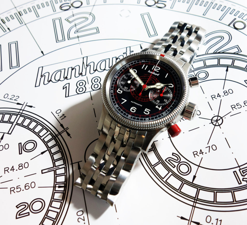 Hanhart Pioneer Tachtyele Chronograph Made in Germany