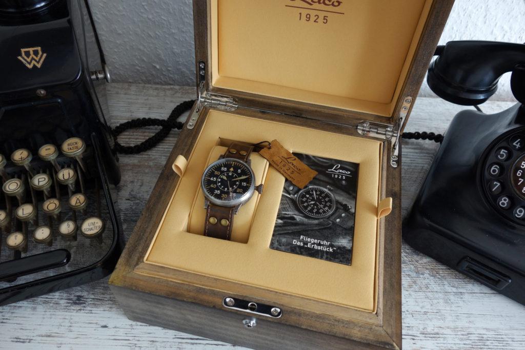 Lacer Paderborn Erbstück Beobachtungsuhr Fliegeruhr B-Uhr B-Muster WWII Vintage Box