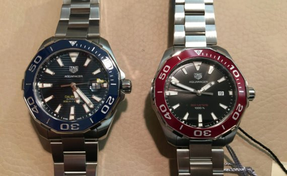 TAG Heuer Aquaracer Quarz rote Lünette Hands on Review Test WAY101B.BA0746