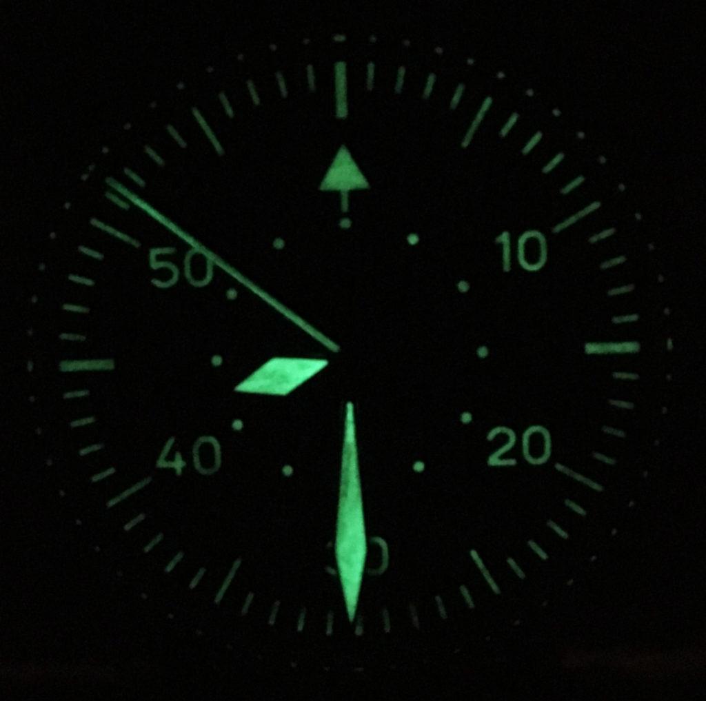 Laco Erbstück Beobachtungsuhr Nightshot Lumen Dark