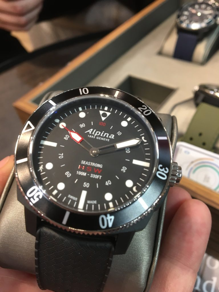 Alpina Seastrong HSW Smartwatch Baselworld 2017