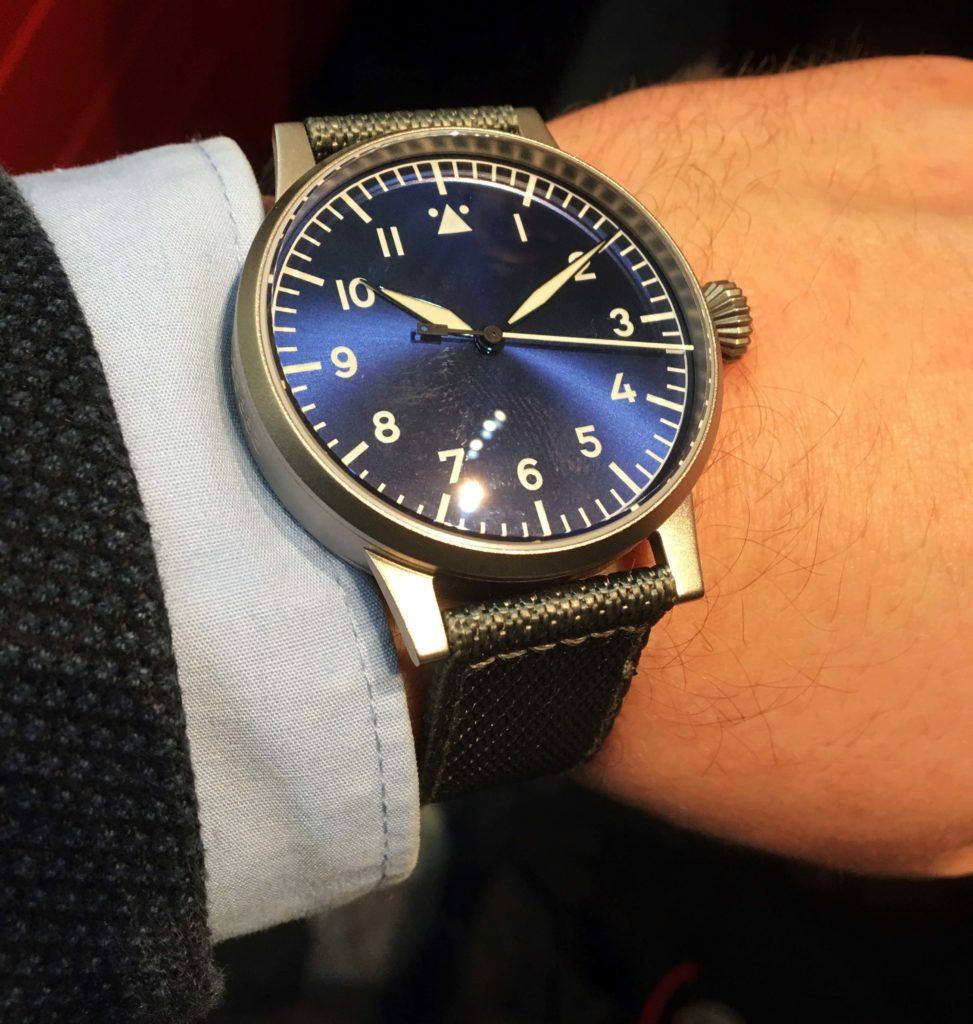 Laco A-Muster Beobachtungsuhr blau