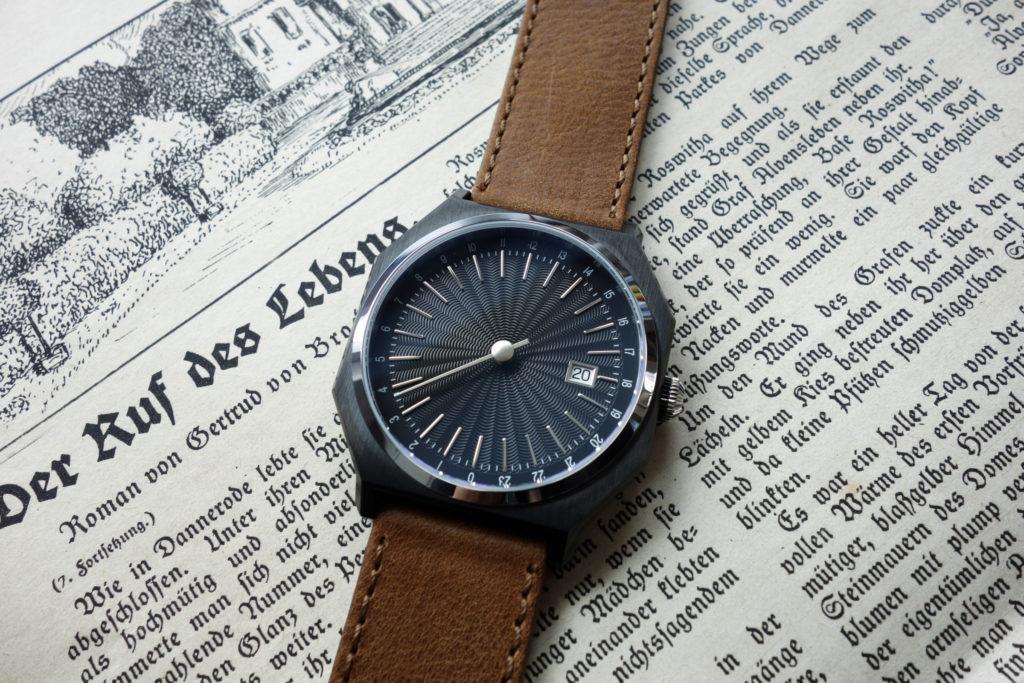 automatically slow 03 braunes vintage leder armband