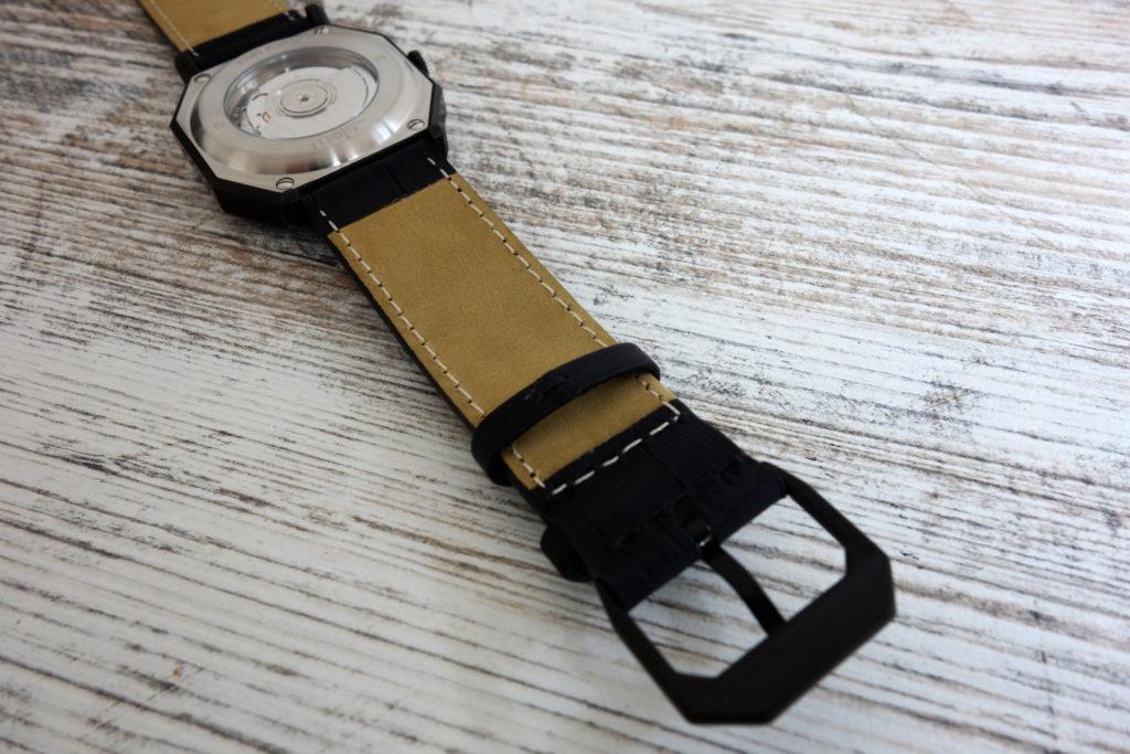 automatically slow 03 leder armband schwarz kroko