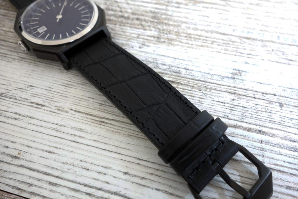 automatically slow 03 leder armband schwarz kroko 2