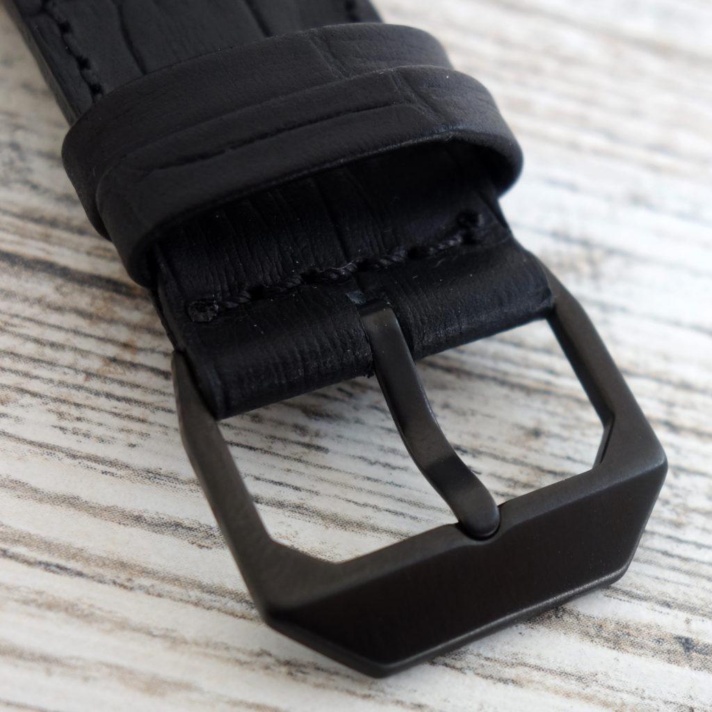 automatically slow 03 leder armband schwarz kroko Schließe