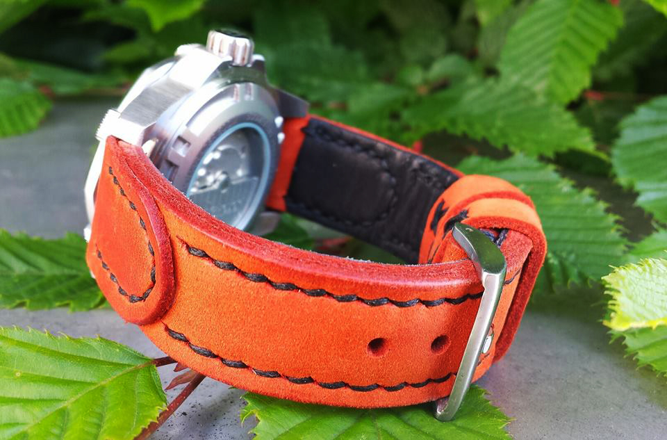 Greenpilot Watchstrap Leather Orange