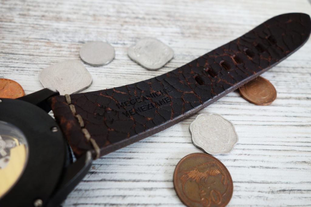 Meccaniche Veneziane Arsenale Handmade in Italy Vintage Leather Strap Lederband 2