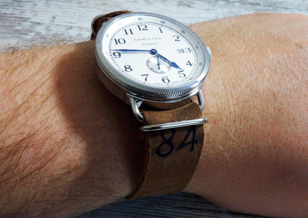 NATO Leder Band Wrist Handgelenk (2)