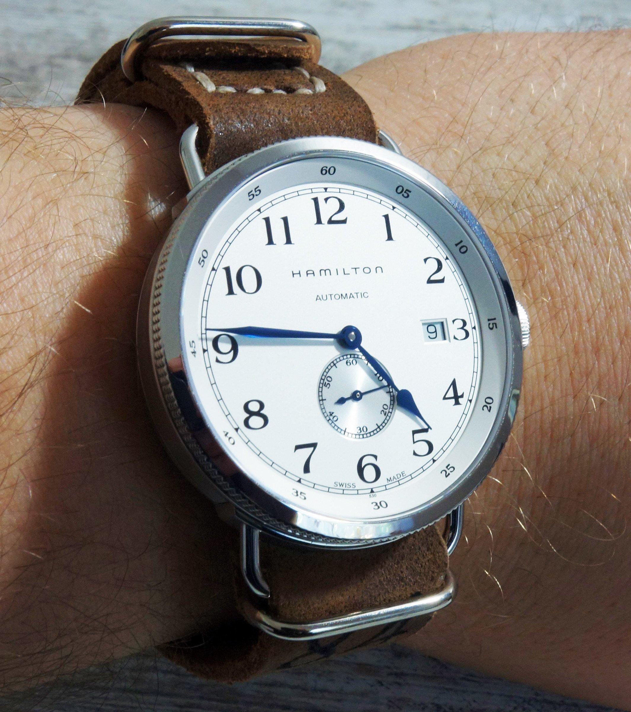Enlarge your Watch! Unterlagenband, NATO-Lederband und Knoten ...