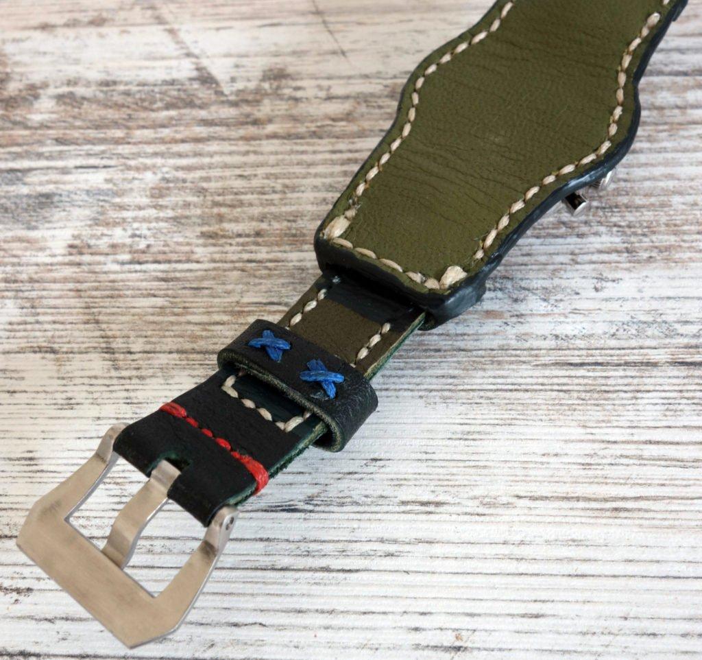 Unterlagenband Leder schwarz Rückseite