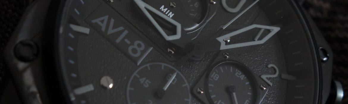 Cockpit Watch AVI-8 Hawker Hunter Black Chronograph Schwarz