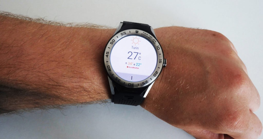 TAG Heuer Connected Modular 2017 Wetter App