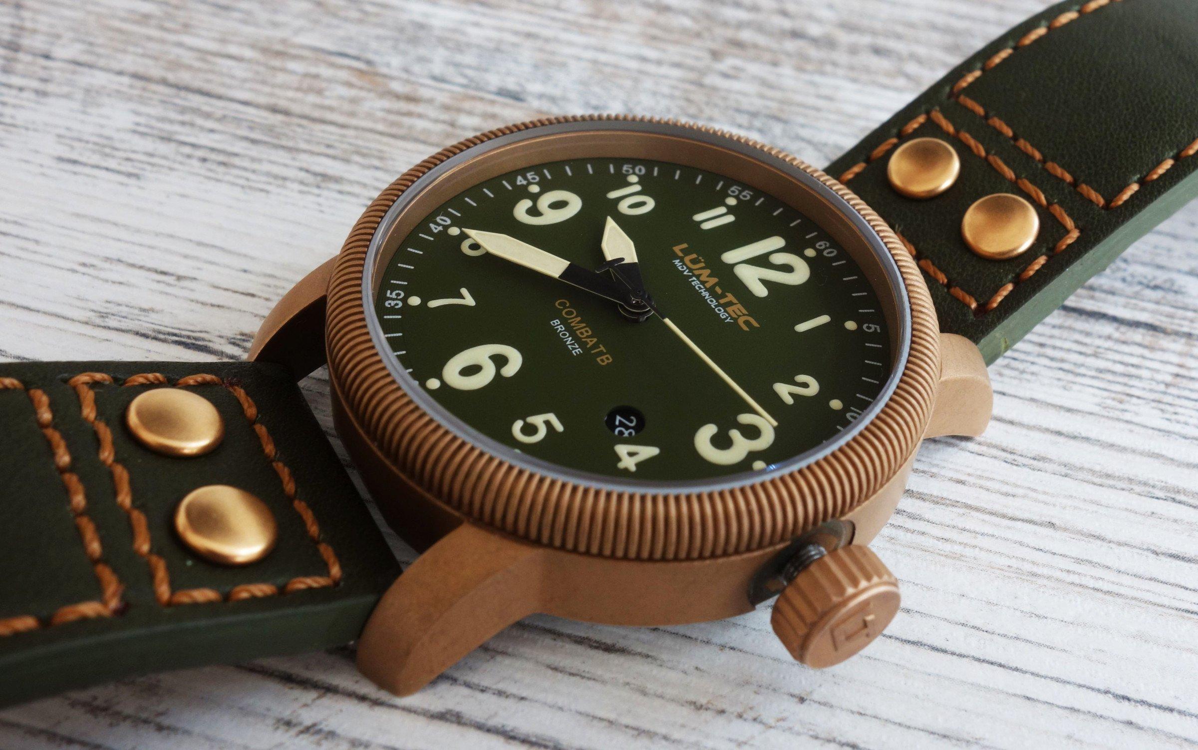 LÜM-TEC Combat B19 Bronze-Uhr im Test: Lumen-Know-How trifft ...