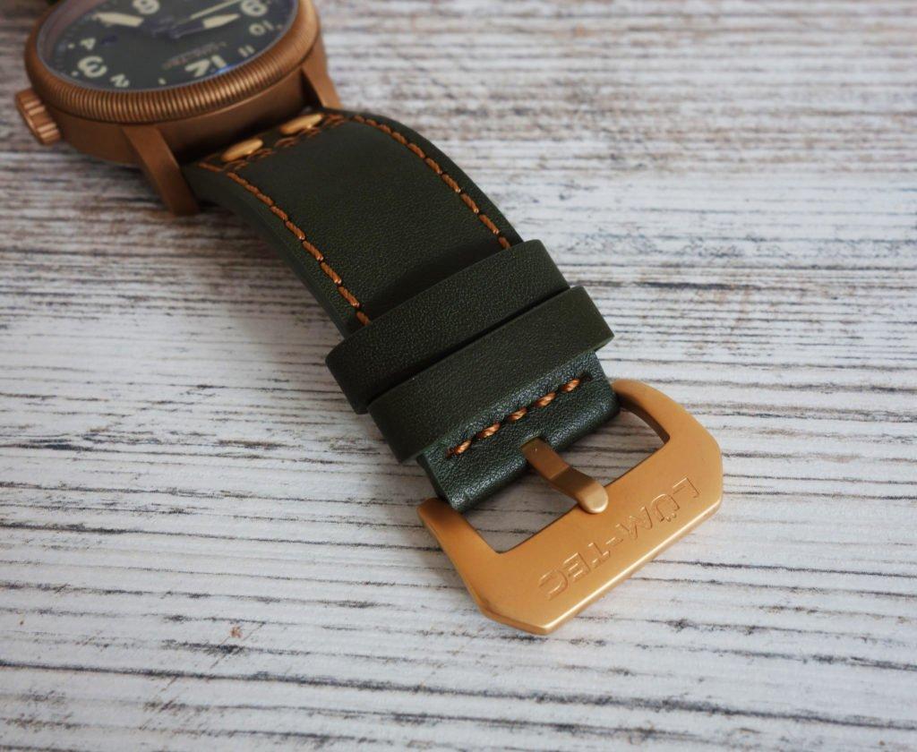 LÜM-TEC B19 Combat Bronze Military Uhr Schließe Lederband