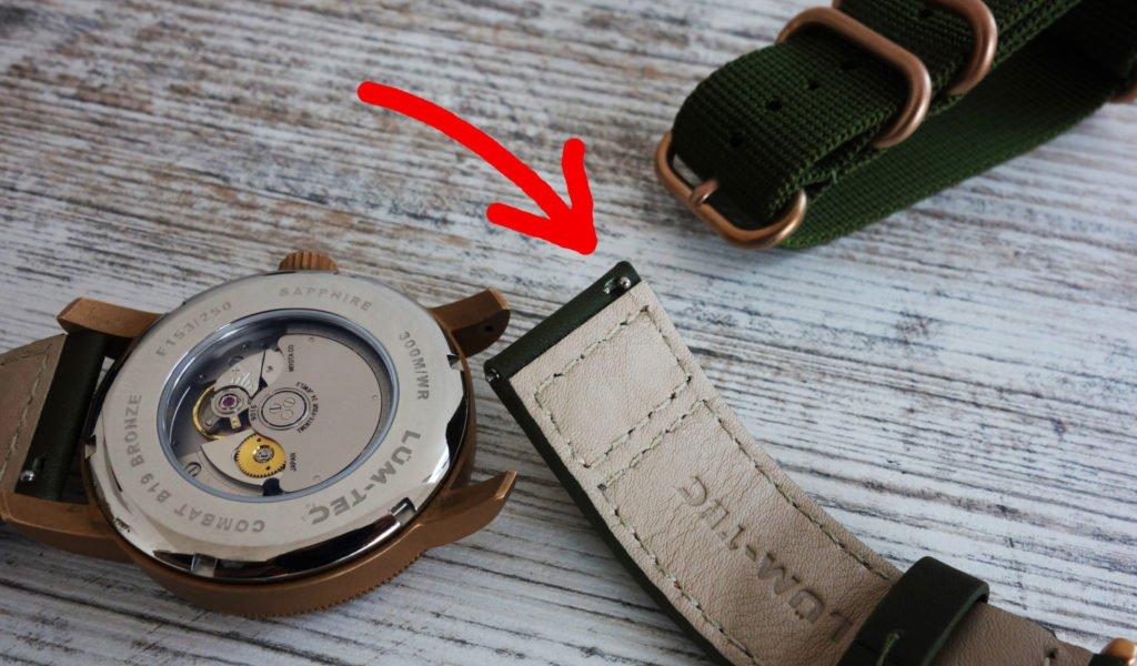LÜM-TEC B19 Combat Bronze Military Uhr Steg Schnellverschluss