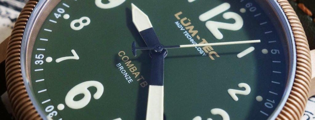LÜM-TEC Bronze olivgrünes Ziffernblatt