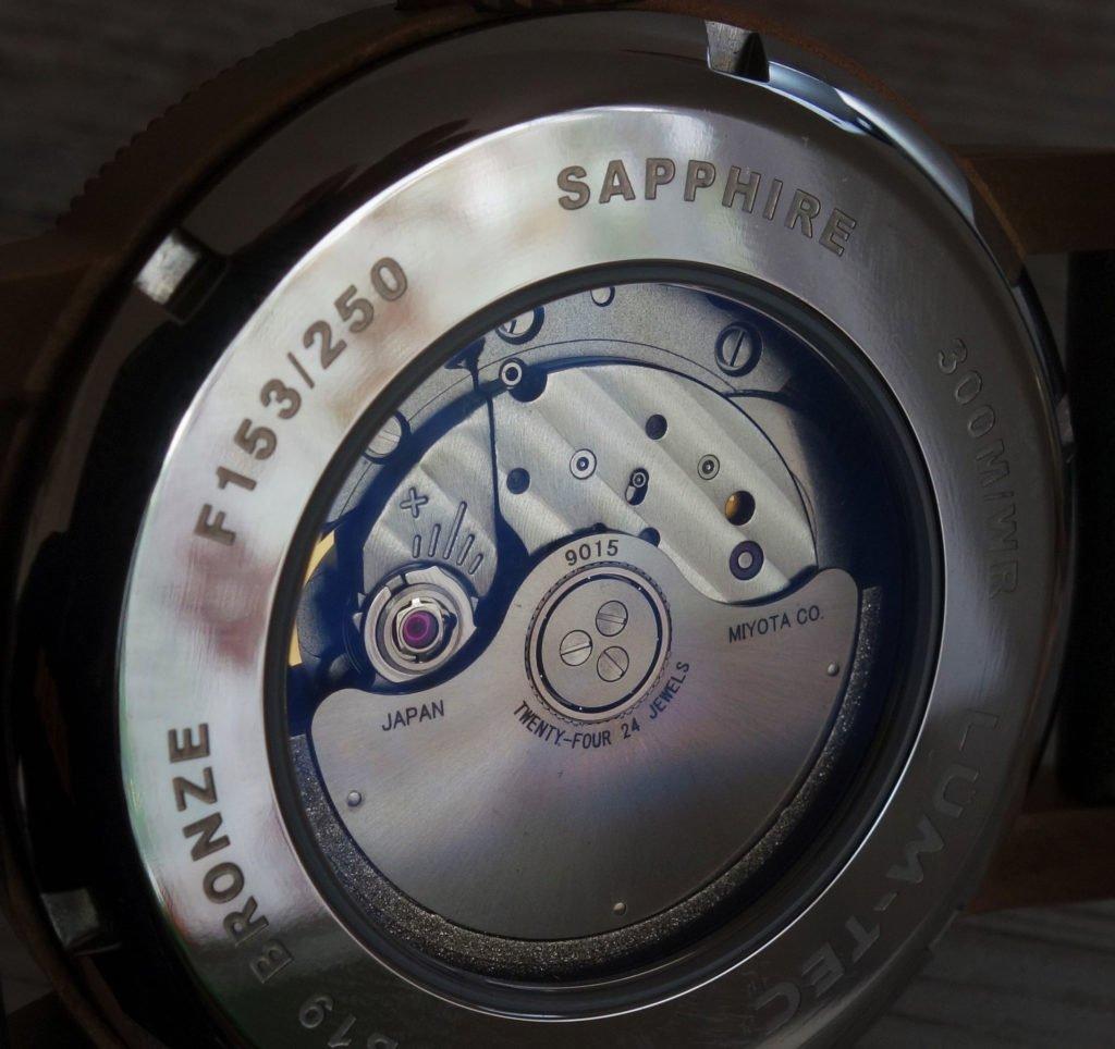 LÜM-TEC B19 Combat Bronze Military Uhr Caseback