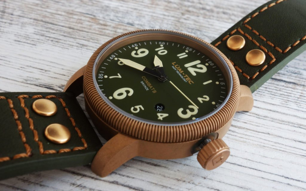 LÜM-TEC B19 Combat Bronze Military Uhr Gehäuse