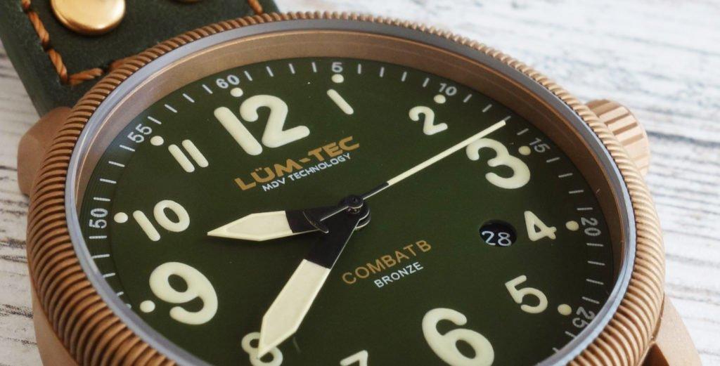 LÜM-TEC Bronze grünes Ziffernblatt