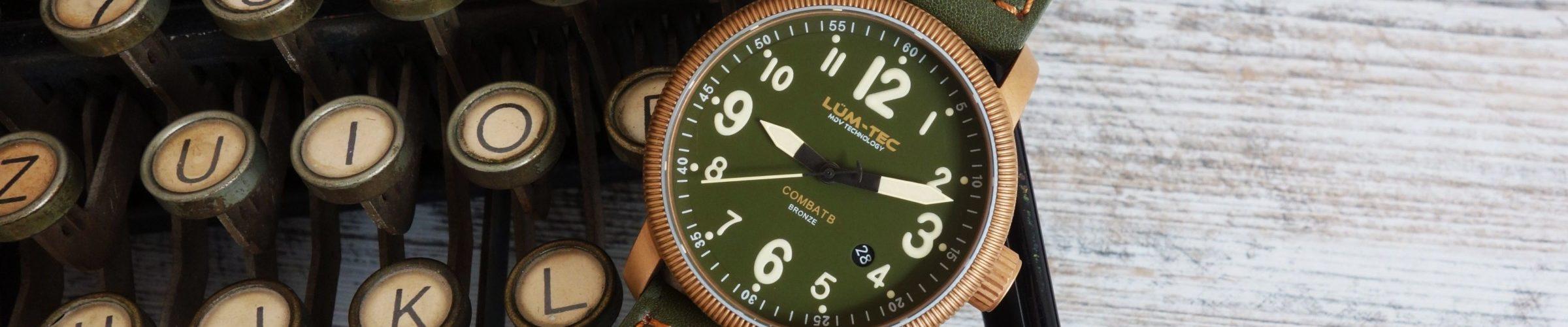 LUM-TEC Bronze Military Uhr mit Vintage-Charme