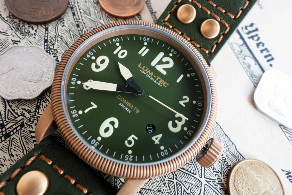 LUMTEC B19 Bronze Vintage Militär Uhr