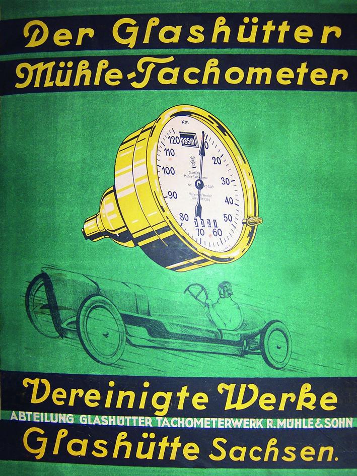 Mühle Glashütte Werbung 1920