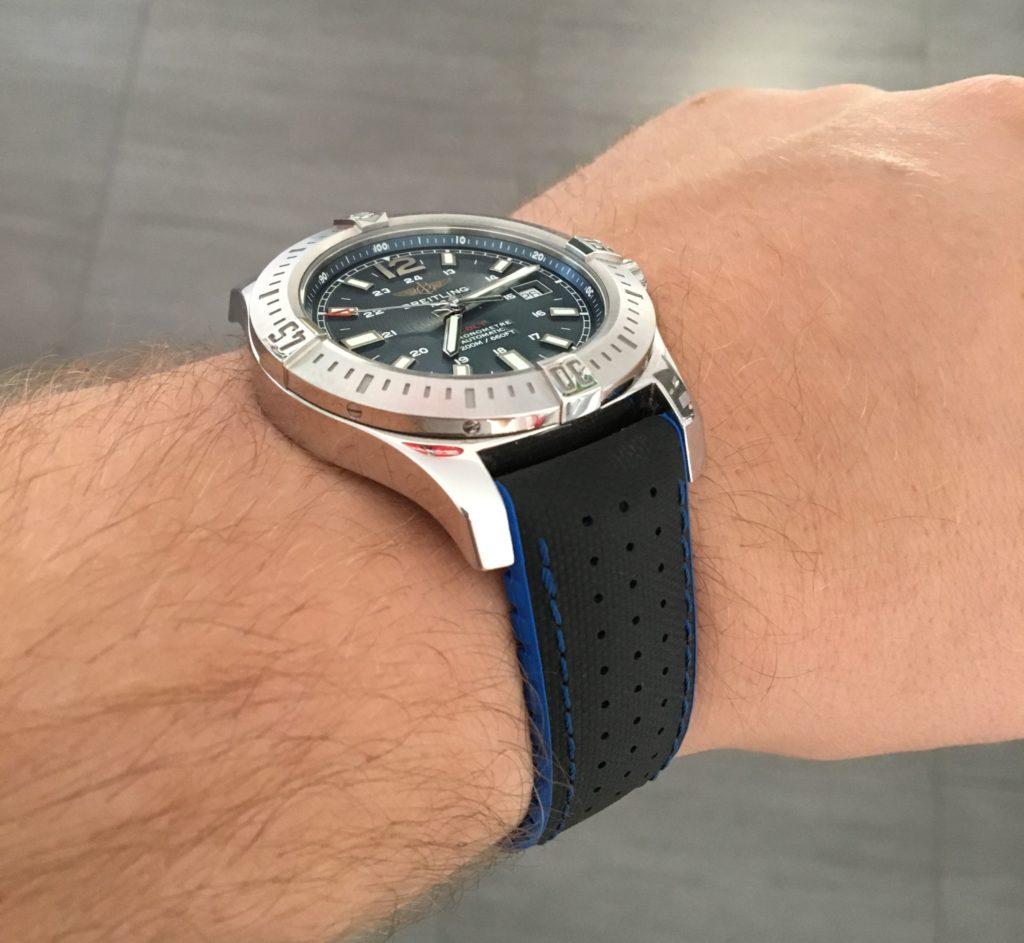 Breitling Hirsch Band blau