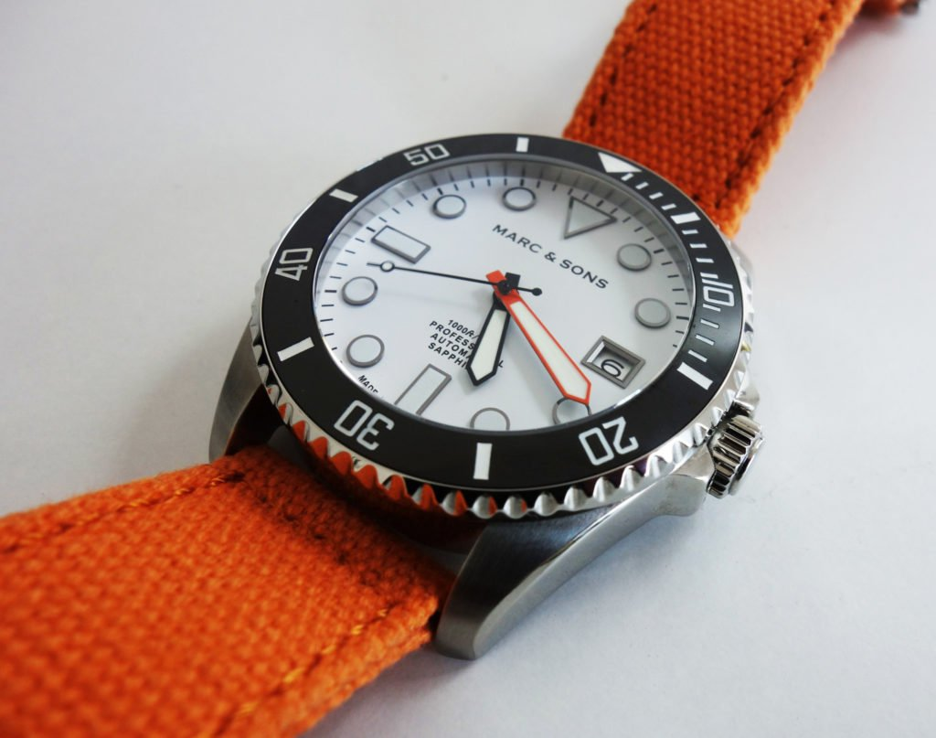 Miros Time oranges Canvas an Marc & Sons Taucheruhr