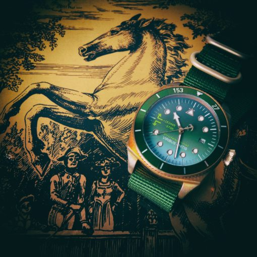 Bronze Uhr Kupferstich