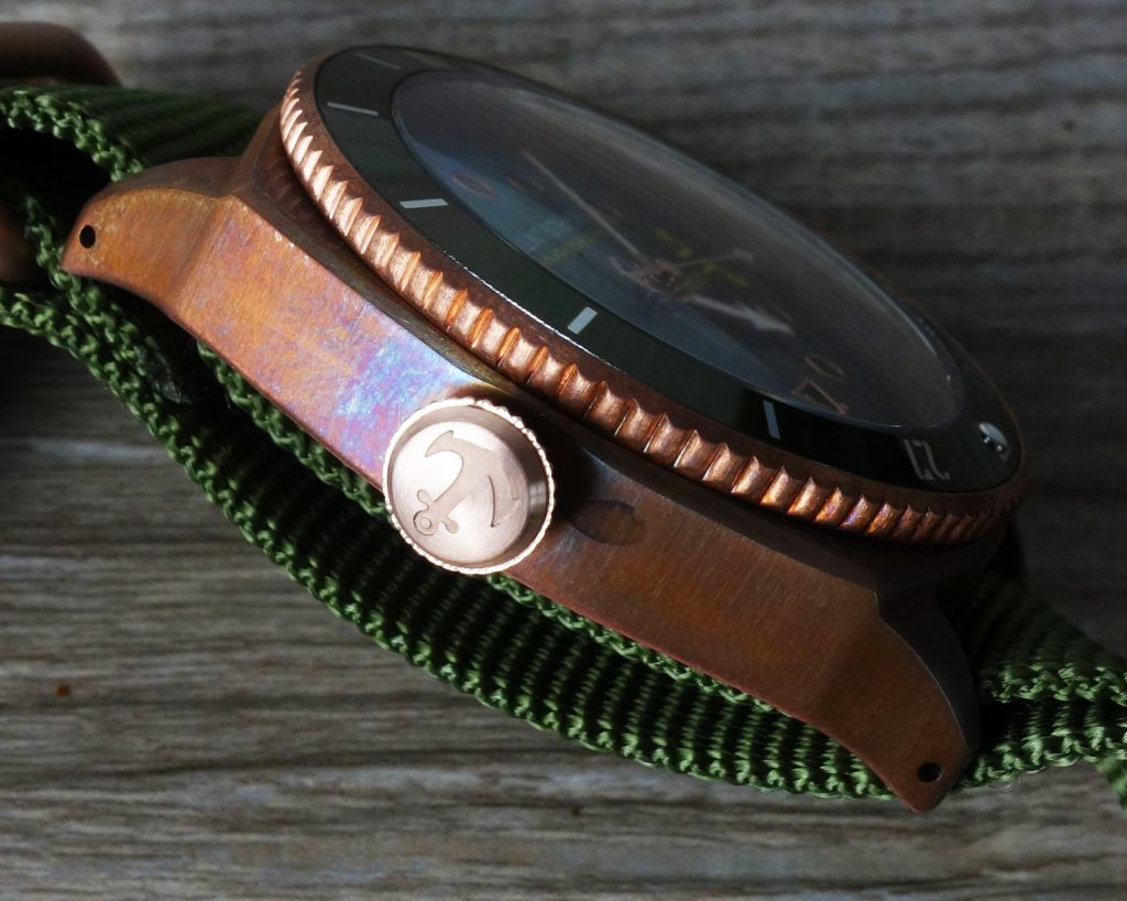 Bronze Uhr Patina